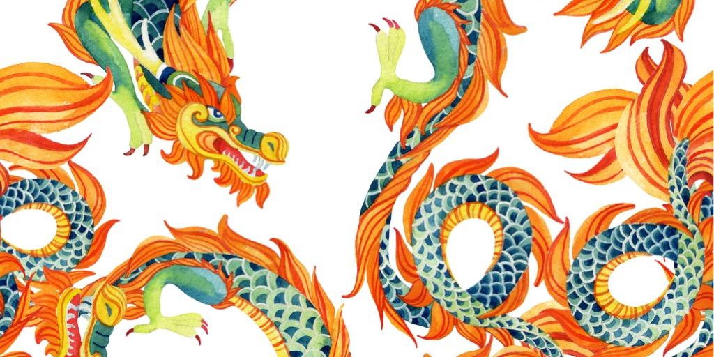 chinese-dragon-seamless-pattern-illustration-id497063516